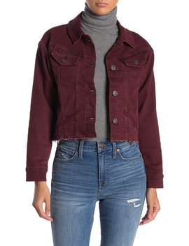 Tori Frayed Hem Denim Jacket by Paige