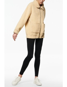 Front Zip Faux Shearling Jacket by Andrew Marc