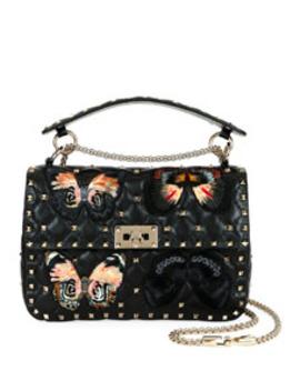 Spike.It Medium Butterfly Shoulder Bag by Valentino Garavani