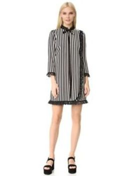 Marc Jacobs Striped Babydoll Dress Size 2 by Marc Jacobs