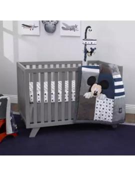"Disney® Mickey Mouse \""Hello World\"" 4 Piece Crib Bedding Set In Navy by Disney"