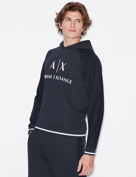 Hoodie With Micro Logo by Armani Exchange