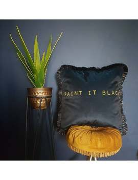 Paint It Black ... Black Velvet Decorative Cushion / Pillow by Etsy