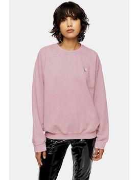 Pink Polar Bear Sweatshirt by Topshop
