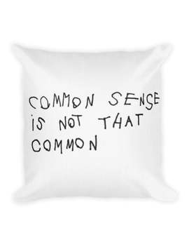Gucci Common Sense Linen Cushion Throw Pillow Luxury Fashion Designer Funny Quote Home Decor Accessory Trendy Hipster Office Black White by Etsy