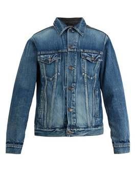 Contrast Panel Denim Jacket by Balenciaga