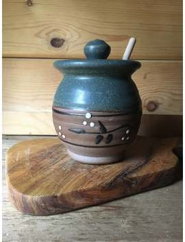 Pottery Honey Pot In Pewter by Etsy