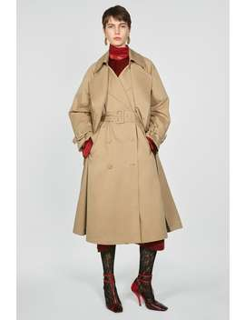 Double Layer Trench Coat With Belt by Zara