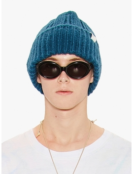 Oversize Beanie Teal Green by Liful Minimal Garments.