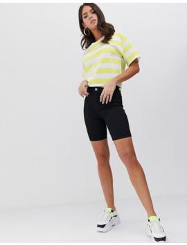 Asos Design Tall   T Shirt Oversize Squadrata A Righe Fluo by Asos Design