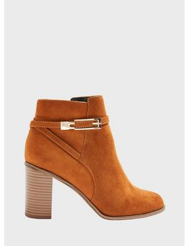 Bubble Tan Hardware Detail Ankle Boots by Miss Selfridge