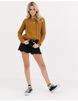 Pimkie Cable Knitted Jumper In Caramel by Pimkie