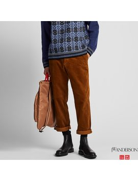Men Jw Anderson Corduroy Relaxed Fit Trousers by Uniqlo
