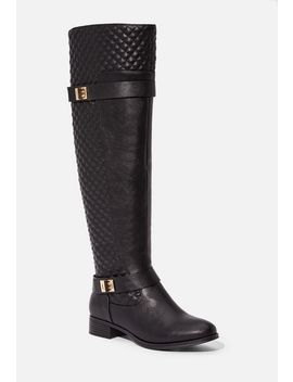 Keswick Quilted Buckle Riding Boot Vip Membership Program by Justfab