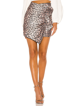 Salli Mini Skirt In Leopard by Camila Coelho