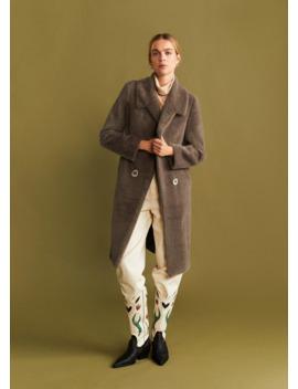 Płaszcz Futrzany Z Kieszeniami by Mango