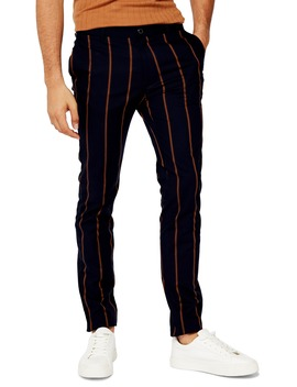 Stripe Skinny Fit Pants by Topman