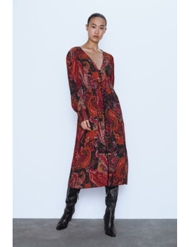 Gemustertes Kleid Alles Anzeigen Kleider Damen by Zara