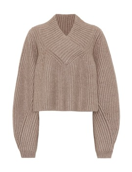 Ivy Cropped Cashmere Sweater by Khaite