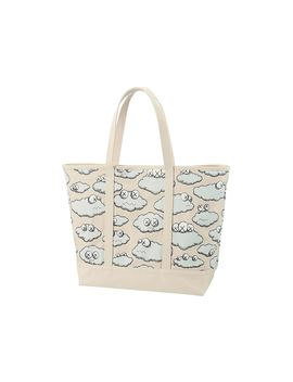 Kaws X Uniqlo Clouds Tote Bag Beige by Stock X