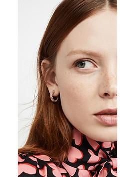 Small Crystal Huggie Earrings by Bauble Bar
