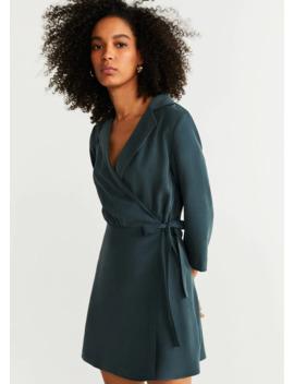 Sukienka Z Klapami I Wiązaniem by Mango