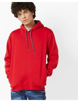 Hoodie With Ribbed Hems by Fort Collins