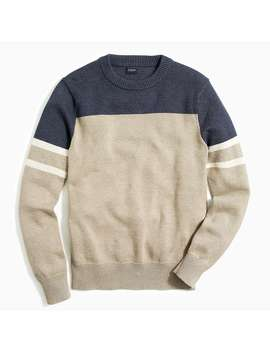 Cotton Colorblock Crewneck Sweater by J.Crew