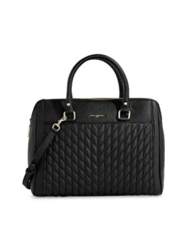 Quilted Leather Satchel by Karl Lagerfeld Paris