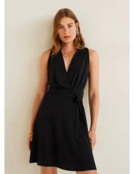 Krótka Sukienka Z Wiązaniem by Mango