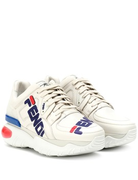 Fendi Mania Leather Sneakers by Fendi