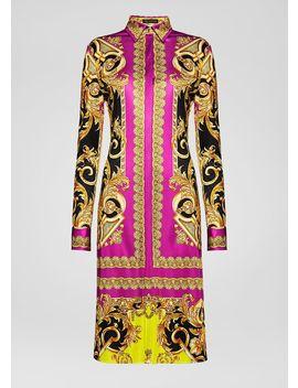 Robe Chemise Imprimé Barocco Femme by Versace