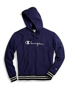 Champion Life® Men's Reverse Weave® Yarn Dye Rib Trim Pullover Hoodie, Vintage Logo by Champion