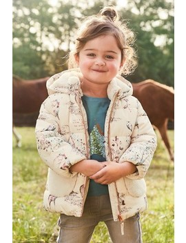Shower Resistant Padded Faux Fur Pocket Jacket (3mths 7yrs) by Next