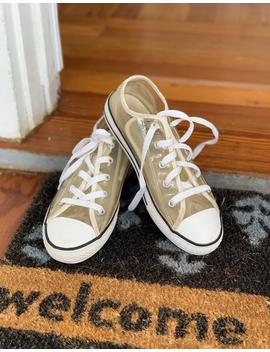 Clear Converse, Youth Size 3, Clear Plastic Converse, Chuck, Chucks, Size 3, Converse All Stars Shoes In Youth Size 3, Retro Kids Shoes by Etsy