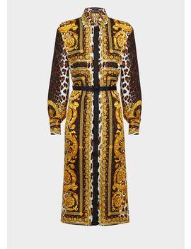Robe Chemise Imprimé Wild Baroque by Versace