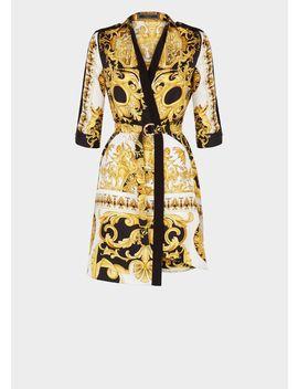 Robe Chemise En Soie Imprimé Barocco Ss'92 by Versace
