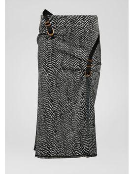 Jupe Bondage à Chevrons by Versace