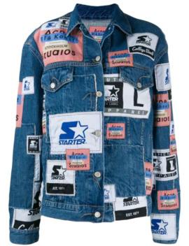X Starter 2000 Patchwork Denim Jacket by Acne Studios