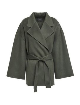 Wool And Cashmere Blend Felt Coat by Theory