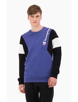 Colour Block Cotton Terry Sweatshirt by Champion
