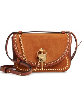 The Sporran Midi Keyts Suede & Leather Shoulder Bag by Jw Anderson