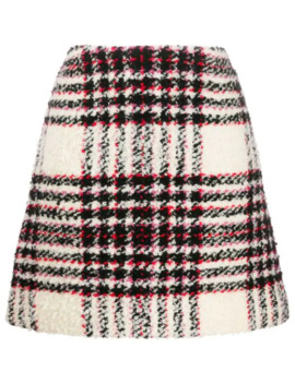 Checked A Line Skirt by Tory Burch