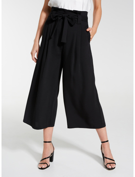 Textured Paperbag Culotte by Dotti