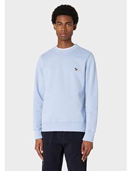 Men's Blue Zebra Logo Organic Cotton Sweatshirt by Paul Smith