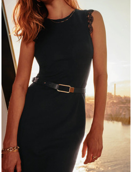 Elevated Leather Stud Slim Belt by Tommy Hilfiger