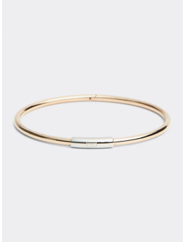 Carnation Gold Skinny Hinge Bangle by Tommy Hilfiger