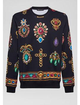 Pierres Grandes Print Sweatshirt by Versace