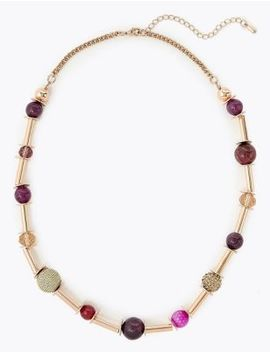 Bar & Bead Necklace by Marks & Spencer
