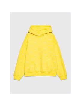 Nike Nrg Swoosh Logo Hooded Sweatshirt Yellow by Très Bien